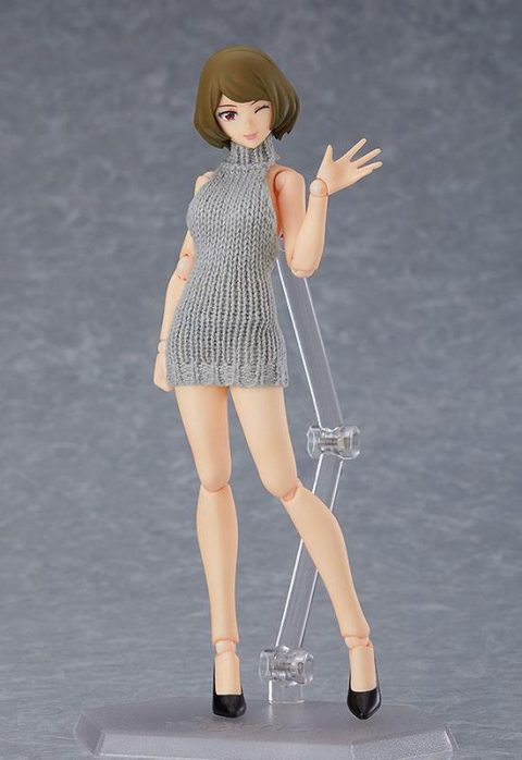 Original Character - Female Body Chiaki Figma with Backless Sweater Outfit 13cm